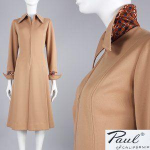 L/XL Vintage 60s Long Sleeve Mod Dress